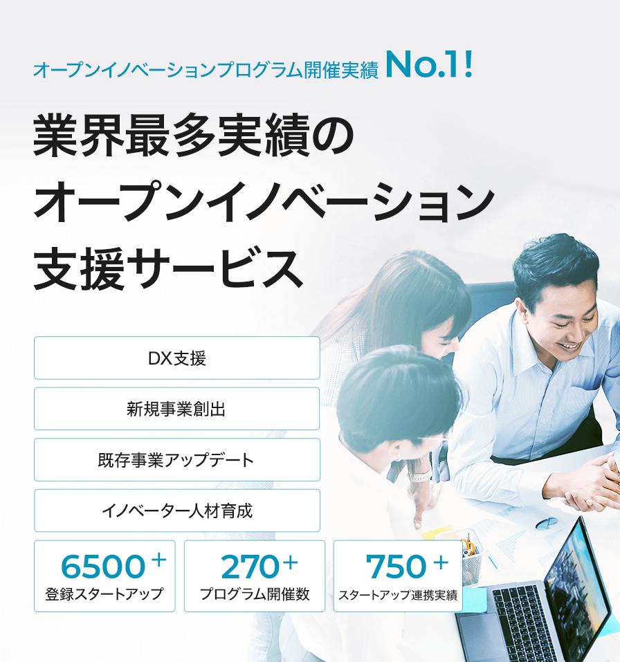 アクセラレータープログラム開催実績NO.1!業界最多実績のオープンイノベーション支援サービス